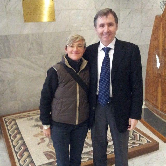 En el Consejo Oleícola Internacional con Ender Gunduz en febrero 2015