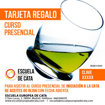 TARJETA REGALO CURSO CATA ACEITE PRESENCIAL
