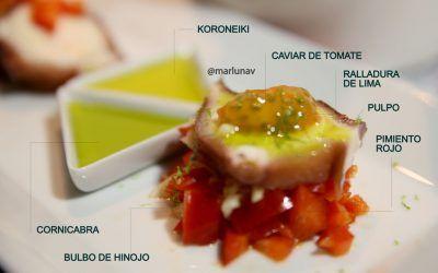 Food Pairing: Pulpo con vinagreta de lima en dos versiones de AOVE