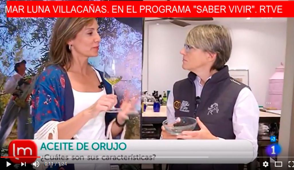 Hablando de aceite de orujo en RTVE