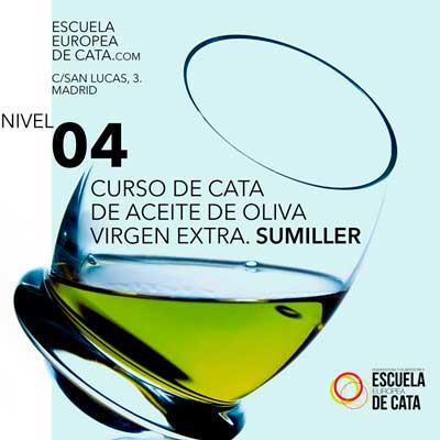 CATA DE ACEITE DE OLIVA VIRGEN EXTRA NIVEL 4. SUMILLER Y MARIDAJE