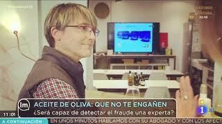 Mar Luna hablando de aceites de oliva virgen extra en TVE. Marzo 2019